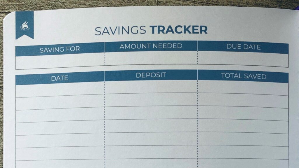 Clever Fox Budget Planner Savings Tracker