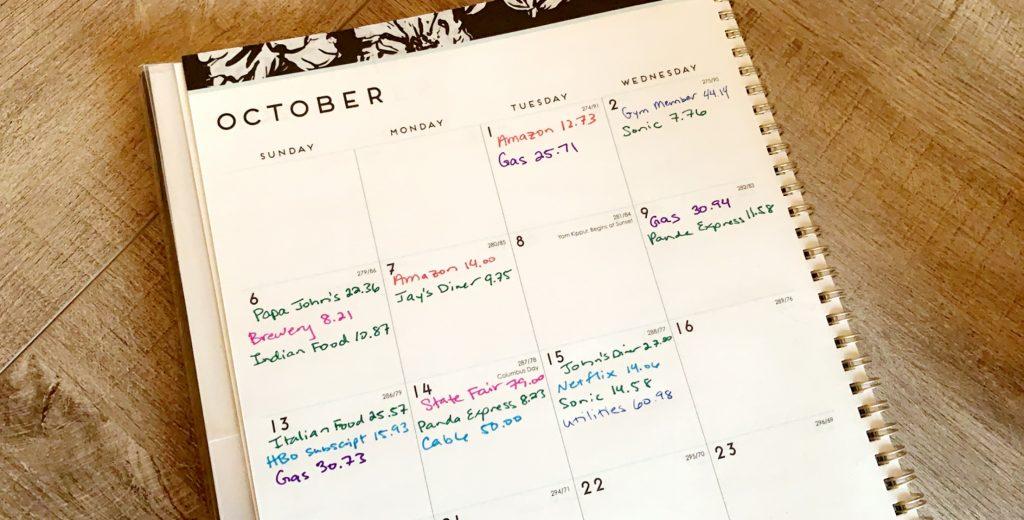 calendar method budget